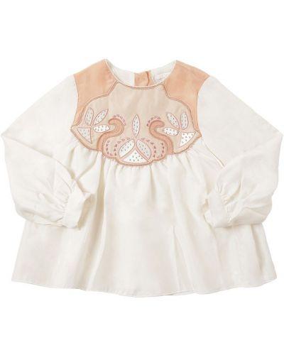 Рубашка с вышивкой со стразами Chloé