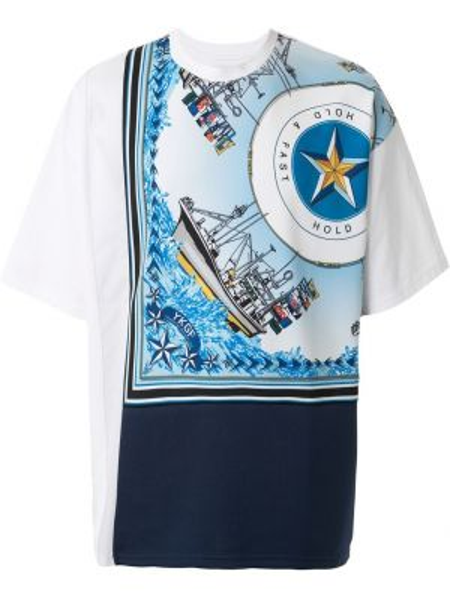 Синяя футболка Yoshiokubo