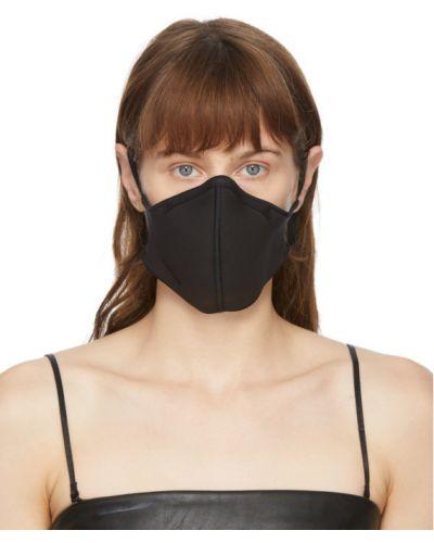 Трикотажная черная маска для лица с тиснением Wolford
