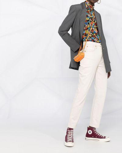 Однобортный серый пиджак с карманами L'autre Chose
