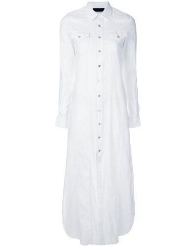 Платье макси длинное - белое Diesel Black Gold