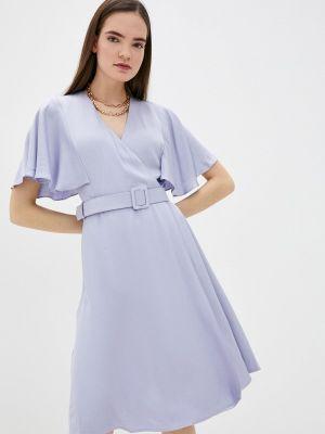 Фиолетовое платье с запахом Lusio