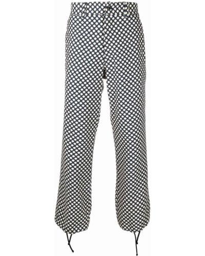 Białe spodnie z nylonu Needles