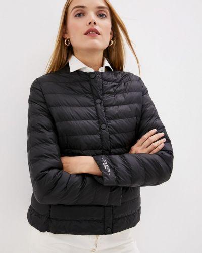 Утепленная куртка демисезонная черная Weekend Max Mara