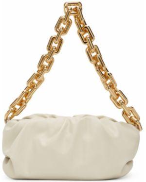 Цепочка из золота через плечо белый Bottega Veneta