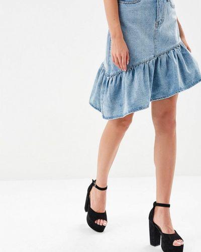 Голубая юбка Lost Ink.