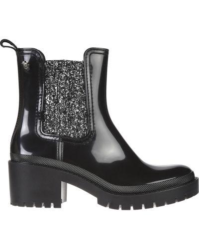 Кожаные ботинки - черные Lemon Jelly