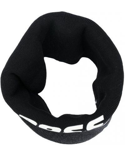 Трикотажный черный шарф в рубчик Boss Kids
