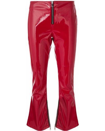 Укороченные брюки расклешенные красный Rta