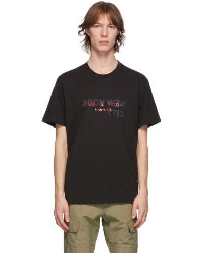 Bawełna z rękawami czarny koszula z krótkim rękawem z kołnierzem Rag & Bone