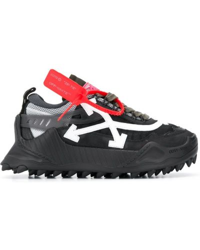 Czarne sneakersy skorzane sznurowane Off-white