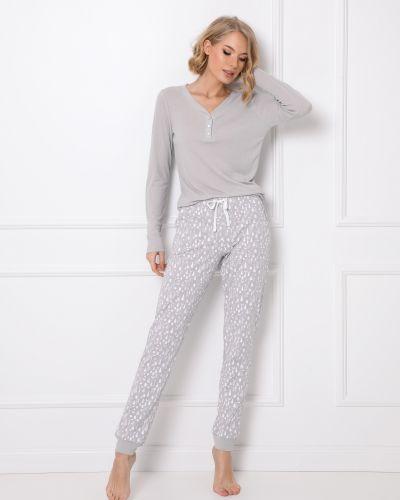 Пижама на пуговицах - серая Aruelle
