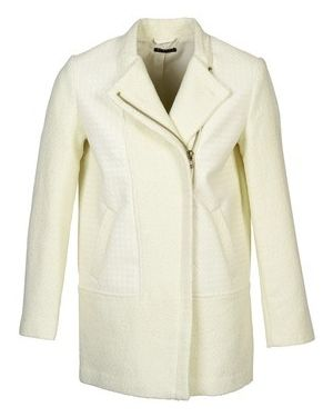 Biały płaszcz przeciwdeszczowy Sisley