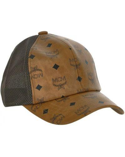 Brązowa czapka Mcm