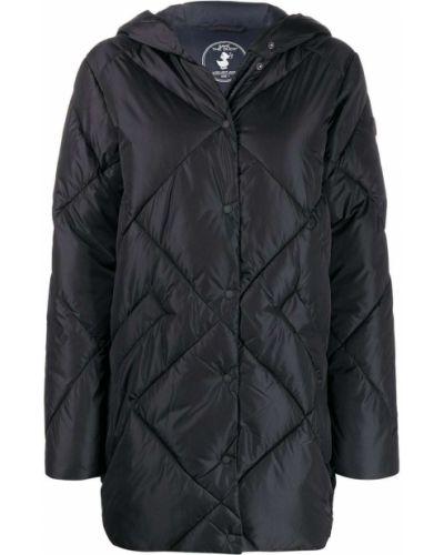 Пальто с капюшоном длинное стеганое Save The Duck