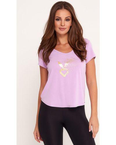 Спортивная футболка из вискозы розовый Cardio Bunny