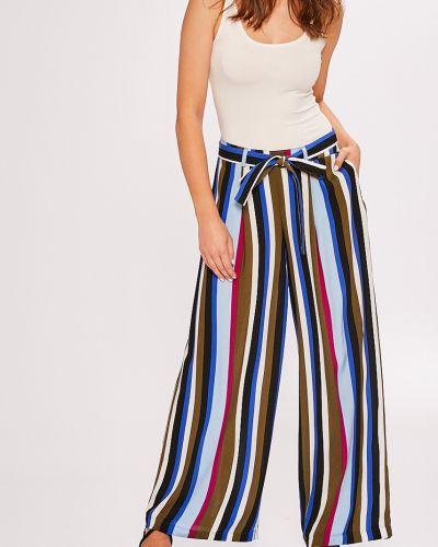 Свободные брюки с поясом из вискозы Answear