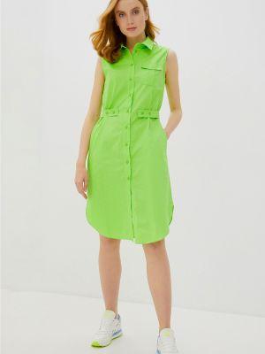Приталенное платье с карманами из плотной ткани на пуговицах Baon