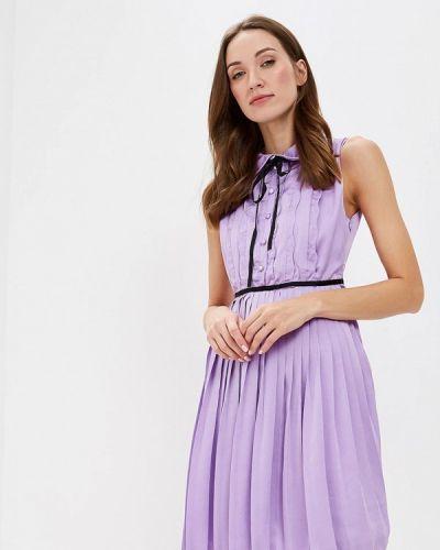 Платье осеннее фиолетовый Paccio