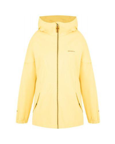 Свободная желтая куртка на молнии Merrell