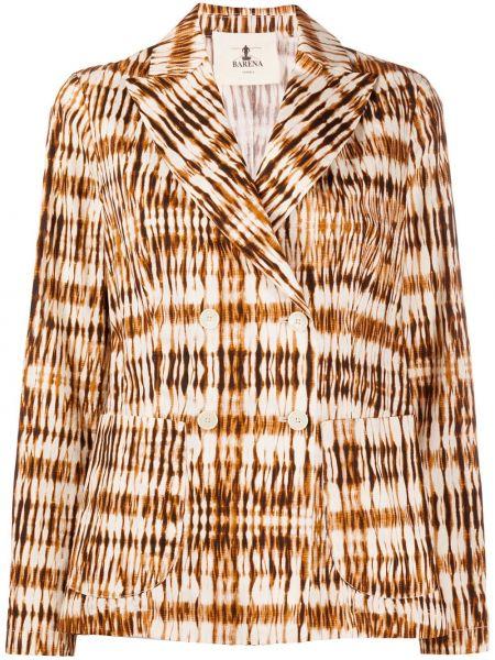 Пиджак в полоску двубортный Barena