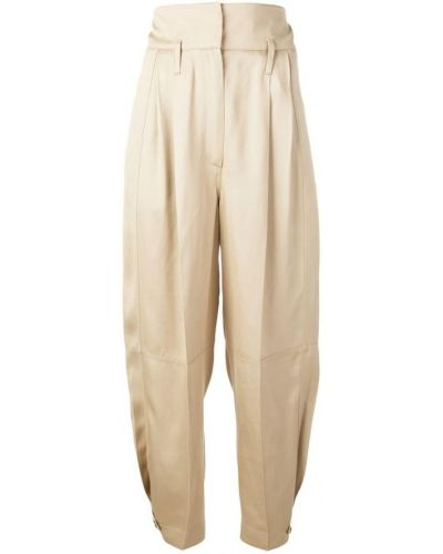 Beżowe klasyczne spodnie Givenchy