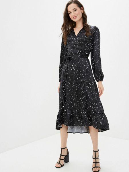 Платье с запахом черное Imocean