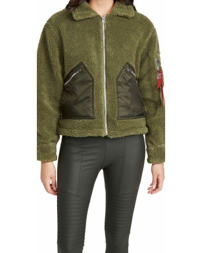 Нейлоновая длинная куртка с карманами с длинными рукавами Alpha Industries