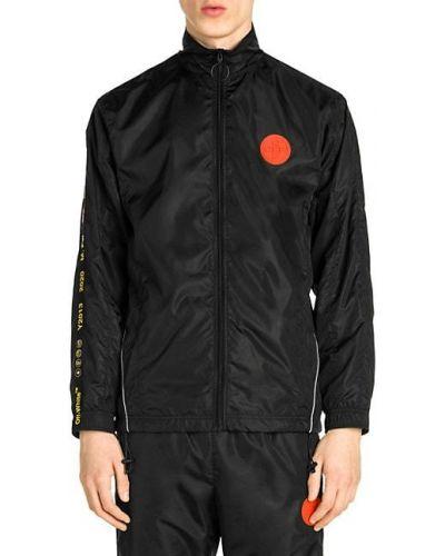 Черная длинная куртка с воротником с манжетами Zanella