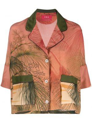 Шелковая с рукавами рубашка с воротником F.r.s. For Restless Sleepers
