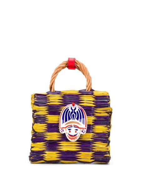 Фиолетовая соломенная сумка-тоут Heimat Atlantica