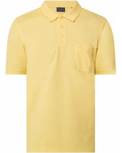 Żółty t-shirt bawełniany Christian Berg Men