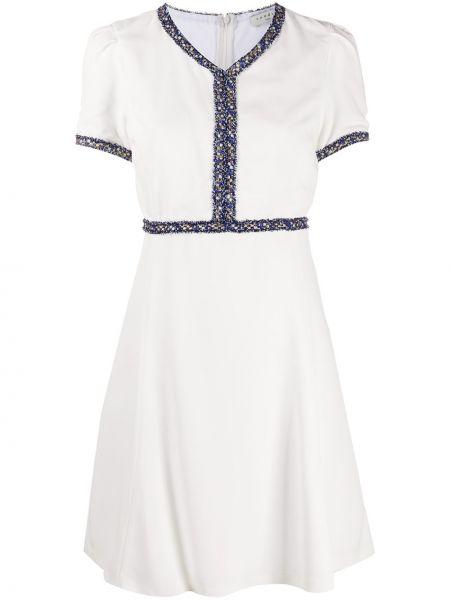 Платье мини с бахромой с V-образным вырезом Sandro Paris
