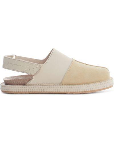 Beżowe sandały płaska podeszwa Jacquemus