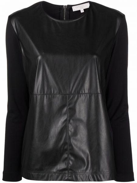 Czarna koszulka z długimi rękawami Antonelli