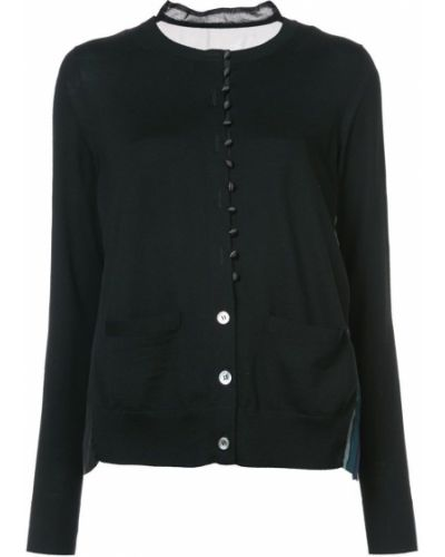 sheer button up cardigan Sacai