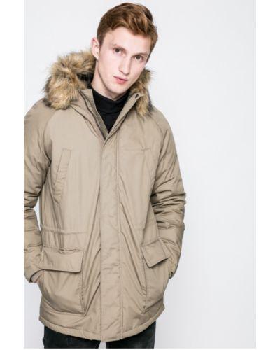 Утепленная куртка с капюшоном прямая Only & Sons