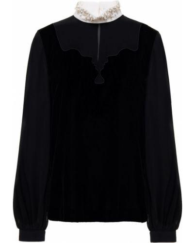 Bluzka z aksamitu - czarna Vivetta