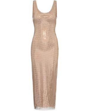 Платье миди модерн песочный Alessandra Rich