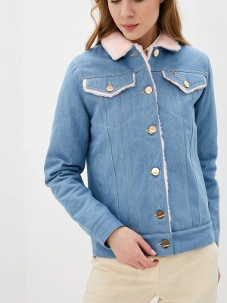 Джинсовая куртка осенняя синий Dasti