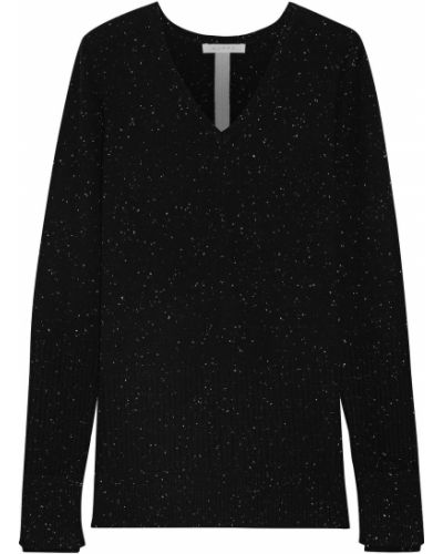 Кашемировый черный свитер Duffy