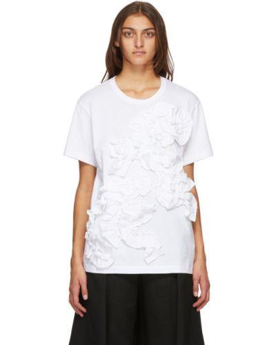 Хлопковая с рукавами белая рубашка Comme Des Garçons Comme Des Garçons