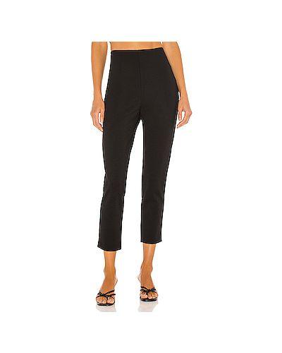 Нейлоновые черные брюки на молнии с разрезом Cupcakes And Cashmere