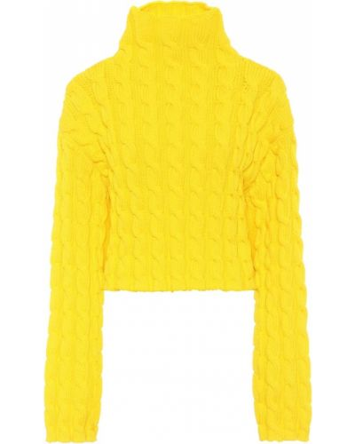 Żółty sweter Balenciaga