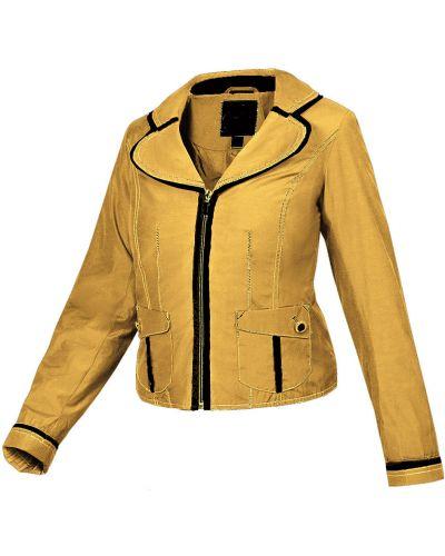 Желтая ветровка с карманами на пуговицах Rozetka