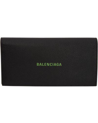 Черный кошелек для монет с тиснением со шлицей Balenciaga