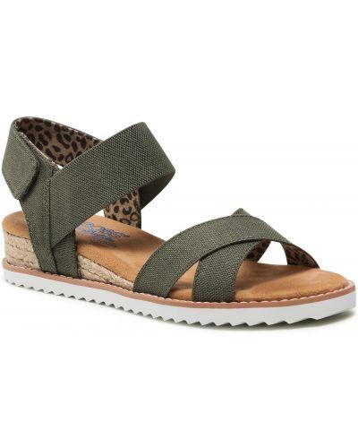 Zielone sandały Skechers