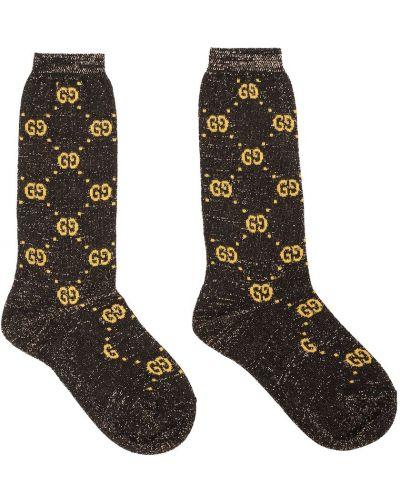 Czarne skarpety bawełniane Gucci Kids