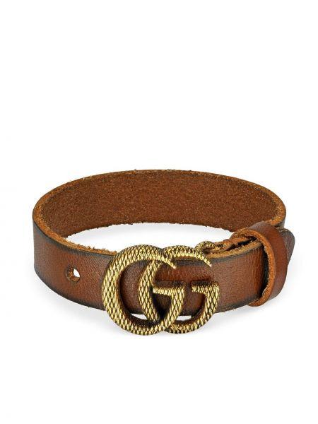 Skórzany bransoletka ze złota złoto Gucci