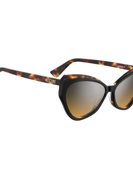 Czarne okulary Moschino